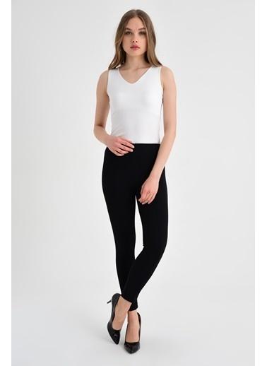 Jument Sentos Yüksek Bel Ön Arka Dikişli Yan Şeritli Tayt Pantolon Siyah